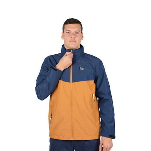 Ανδρικό Μπουφάν EMERSON Χρώμα Κίτρινο-Μπλε Lightweigth Roll-In Hood Jacket Copper-Navy Blue
