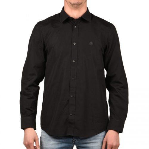 Ανδρικό πουκάμισο Diesel, σε μαύρο χρώμα. Κατασκευασμένο απο βαμβάκι με regular fit. Διαθέτει διακριτικό logo Mohawk στο μπροστά μέρος και κλείσιμο με κουμπιά. Το μοντέλο έχει ύψος 1.85m και φοράει μέγεθος M.
