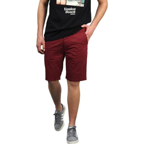 Ανδρική Υφασμάτινη Βερμούδα EMERSON Χρώμα Μπορντό Emerson Mens Stretch Chino Short Pants 201.EM46.91 Berry