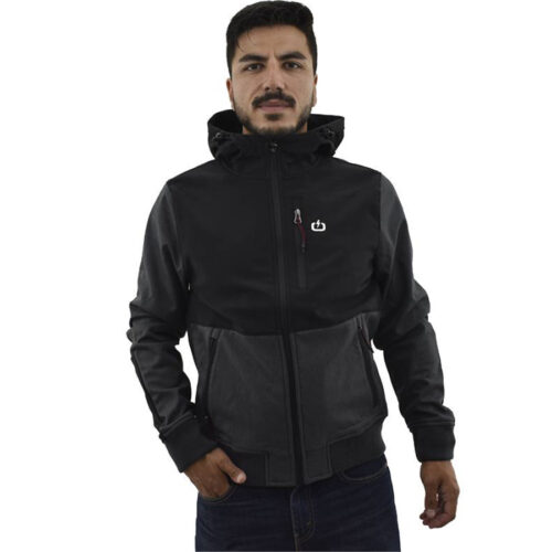 Emerson Men's Soft Shell Ribbed Jacket with Hood BD GMD/BLACK