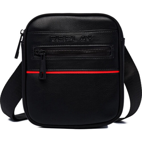 Replay Ανδρική Τσάντα Ώμου – Χιαστί Χρώμα Μαύρο