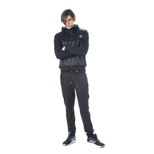 Ανδρική Ζακέτα με Κουκούλα Paco & Co Χρώμα Μαύρο 202503-Black