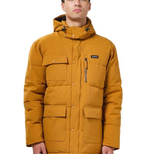 Basehit Ανδρικό Μπουφάν Με Κουκούλα Xρώμα Ώχρα Men's P.P. Down Jacket with Det/ble Hood