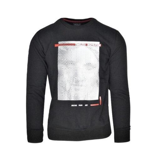 Ανδρική Φούτερ Μπλούζα Paco & Co Χρώμα Μαύρο 202540