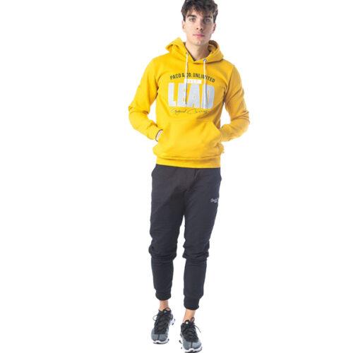 Ανδρικό Φούτερ Με Κουκούλα Paco & Co Χρώμα Κίτρινο 202597 Υellow