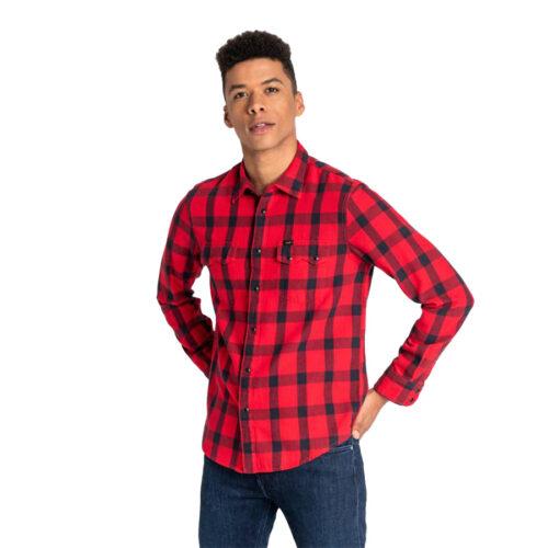 Ανδρικό Πουκάμισο LΕΕ Χρώμα Κόκκινο Lee Shirt Rider Regular Fit L856OEKG