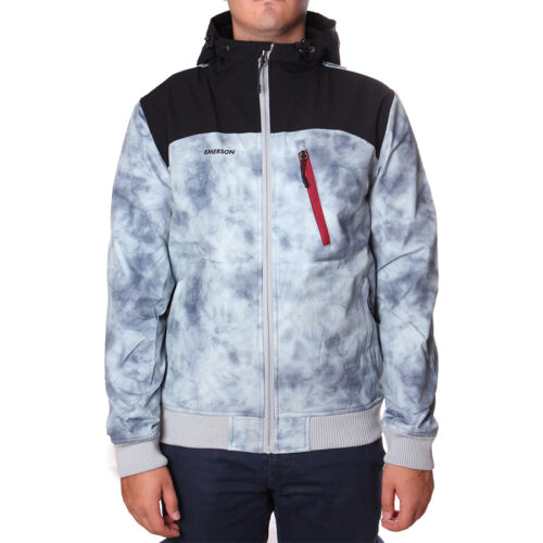 Ανδρικό Μπουφάν Emerson Χρώμα Γκρι-Μαύρο Emerson Men's Ribbed Jacket with Hood PR 217 GREY/K9 BLACK