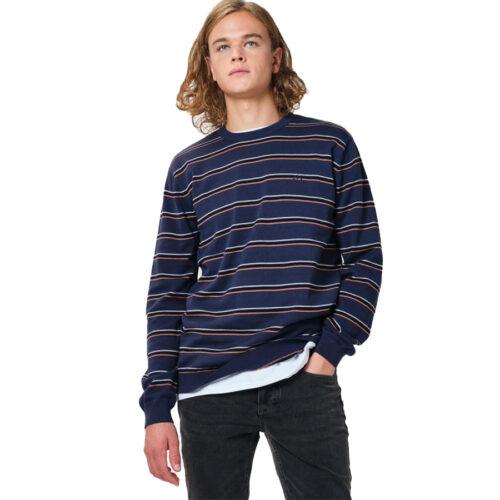 Ανδρική Πλεκτή Μπλούζα Emerson Χρώμα Μπλε Men's Cotton Knit with Round Neck PR 209 BLUE