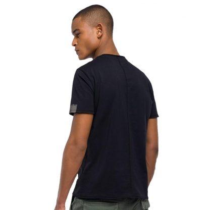 Ανδρική Mακώ Μπλούζα Replay Χρώμα Μαύρο