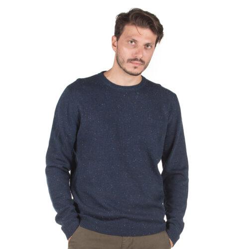 Ανδρική Πλεκτή Μπλούζα Emerson Χρώμα Μπλε Emerson Men's Knit with Round Neck NEP BLUE