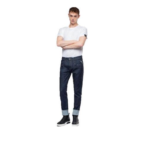 Ανδρικό Παντελόνι Replay Χρώμα Μπλε Σκούρο M914Y-000-141 700-007-dark blue