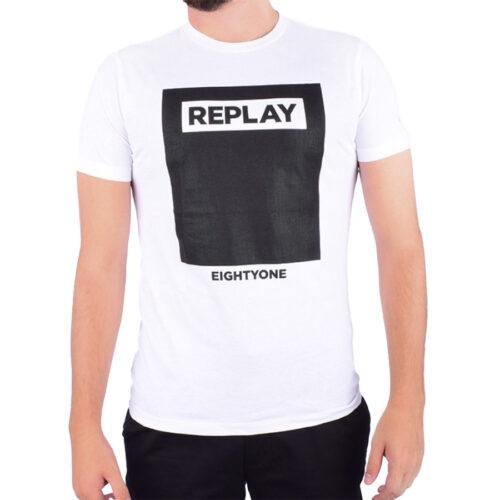 Ανδρικό T-Shirt Replay Μακώ Χρώμα Λευκό