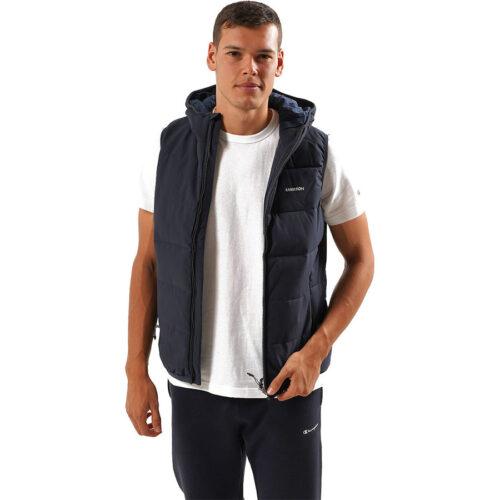 Emerson Men's P.P. Down Vest Jacket with Hood K9 NAVY BLUE