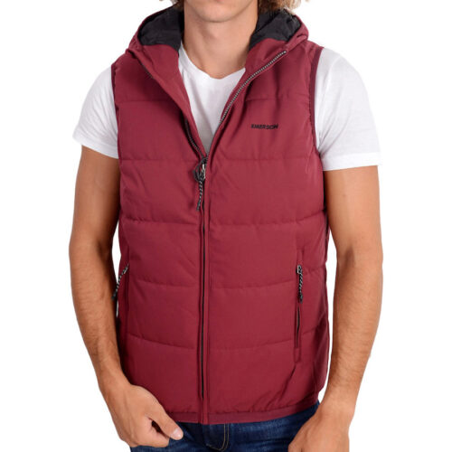 Emerson Men's P.P. Down Vest Jacket with Hood K9 DUSTY BERRY