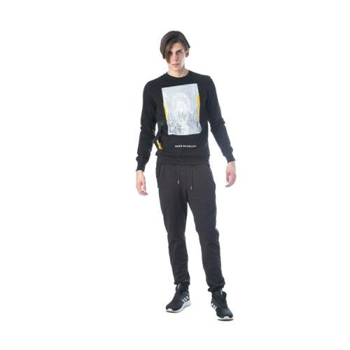 Ανδρική Μπλούζα Φούτερ Paco & Co Χρώμα Μαύρο Paco 202533-Black
