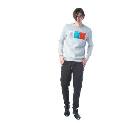 Ανδρική Μπλούζα Φούτερ Paco & Co Χρώμα Γκρι Paco 202535-Grey