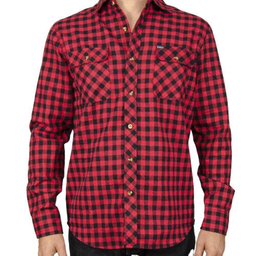 Emerson Ανδρικό Πουκάμισο Χρώμα Κόκκινο-Μαύρο 182.ΕΜ60.85 Red/Black