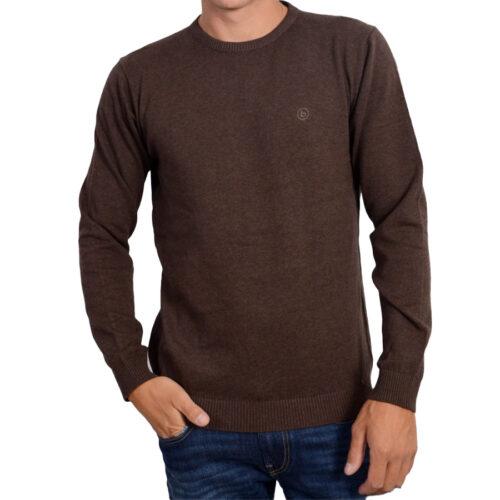 Ανδρική Νημάτινη Μπλούζα Xρώμα Καφέ 202.BM70.91-Brown Ml Basehit