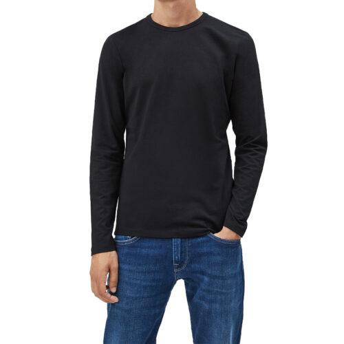 Ανδρική Μπλούζα Μακρύ Μανίκι Pepe Jeans E1 Nos Original Basic l/s Χρώμα Μαύρο PM503803-Black