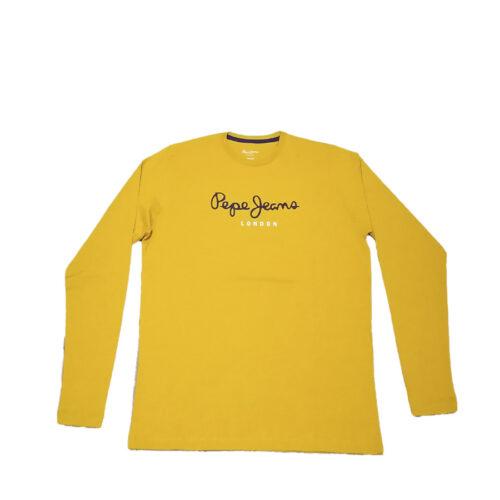 Ανδρική Μπλούζα Μακρύ Μανίκι Pepe Jeans E2 Nos Eggo Long Χρώμα Colemans-yellow PM501321-Yellow