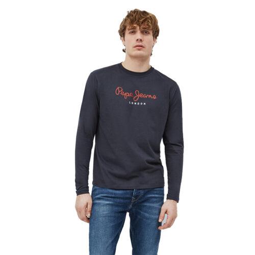 Ανδρική Μπλούζα Μακρύ Μανίκι Pepe Jeans E2 Nos Eggo Long Χρώμα Γκρι PM501321-Infinity/Grey