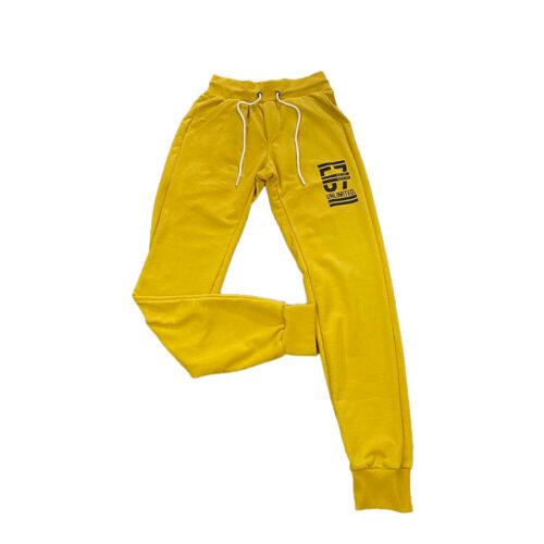 Ανδρικό Παντελόνι Φόρμας PACO & CO 201605 Χρώμα Kίτρινο Men's Jogger Pant