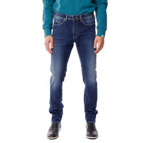 Ανδρικό Παντελόνι GAS Χρώμα Μπλε Men's Slim Stretch Albert Simple wz79-blue