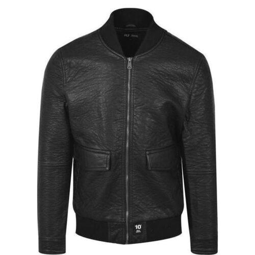 Biston Ανδρικό Μπουφάν Δερματίνης Χρώμα Μαύρο Jacket Biston 38-201-061-black