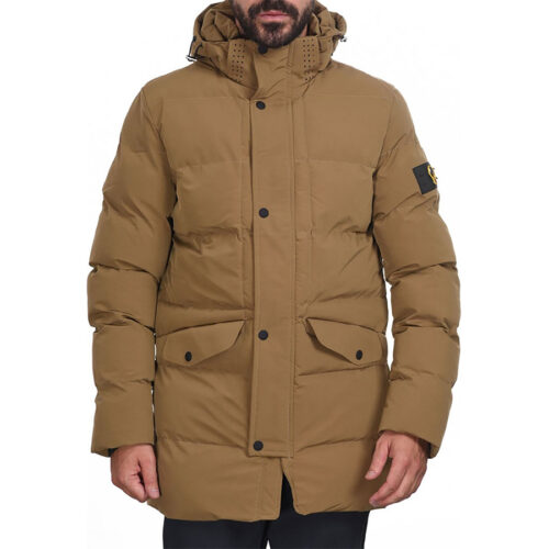 Biston Ανδρικό Μπουφάν Με Κουκούλα Χρώμα Μπεζ Jacket 44-201-028-beige