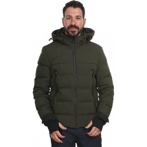 Biston Ανδρικό Μπουφάν Κοντό Με Κουκούλα Χρώμα Χακί Jacket 44-201-053-Khaki