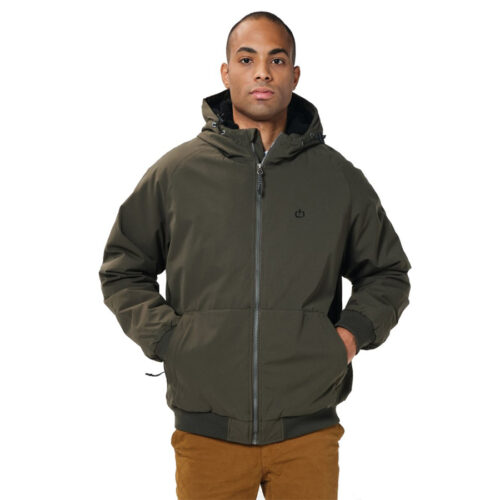 EMERSON HOODED RAGLAN BOMBER JACKET 202.EM10.116 -ARMY GREEN
