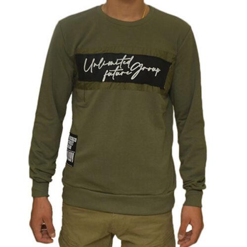 Ανδρική Φούτερ Μπλούζα Paco & Co Χρώμα Λαδί 202524-L