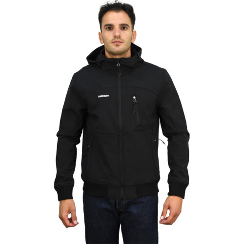 Emerson Men's Soft Shell Jacket with Hood BD BLACK 202.EM11.127-BD BLACK