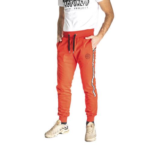 Aνδρικό Παντελόνι Φόρμας PACO & CO Χρώμα Κόκκινο Men's Jogger Pant 213675-red