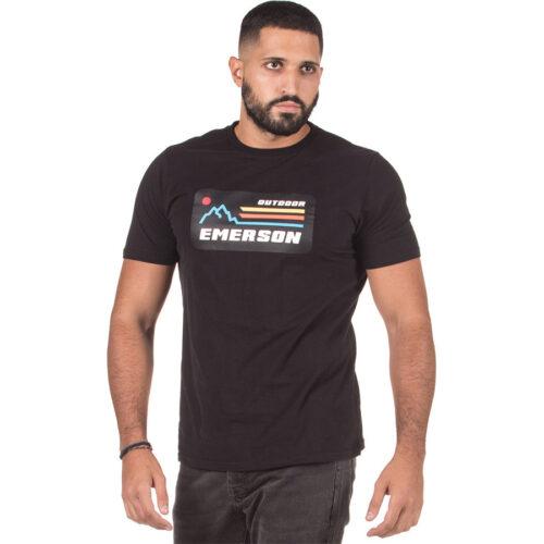 Ανδρικό T-Shirt Emerson Χρώμα Μαύρο Emerson T-Shirt 202.EM33.21-black