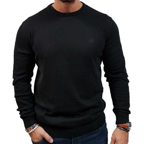 Ανδρική Νημάτινη Μπλούζα Basehit Xρώμα Μαύρο 202.BM70.91-Black