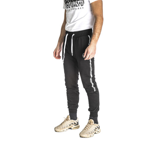 Aνδρικό Παντελόνι Φόρμας PACO & CO Χρώμα Μαύρο Men's Jogger Pant 213675-black