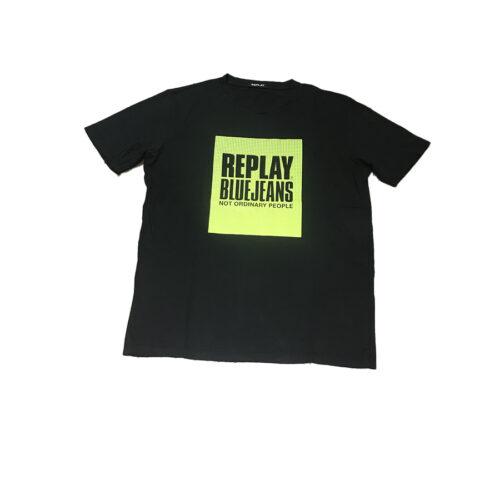 Ανδρικό T-shirt Replay Μακό Xρώμα Μαύρο M3365.000.22038G-099 BLACKBOARD
