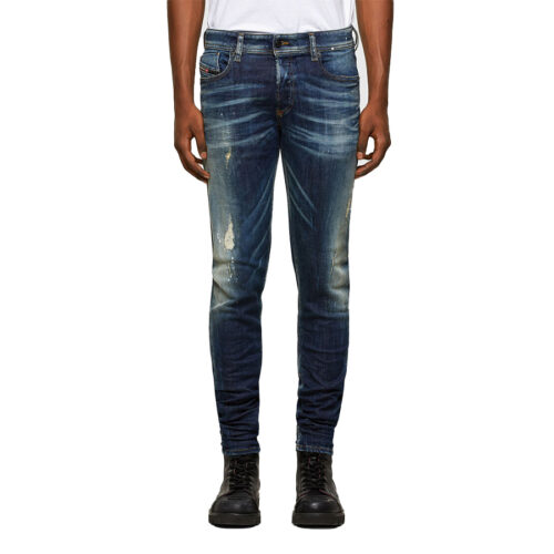 Ανδρικό Παντελόνι Τζιν DIESEL Χρώμα Σκούρο Μπλε Diesel Sleenker 00SWJG 0097L 01- dark blue