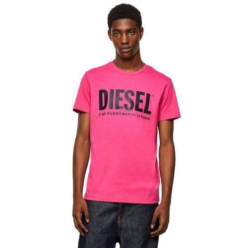 ΑΝΔΡΙΚΟ T-SHIRT DIESEL Χρώμα Ροζ Diesel T-DIEGO-LOGO T-SHIRT 00SXED 0AAXJ 3BG -pink