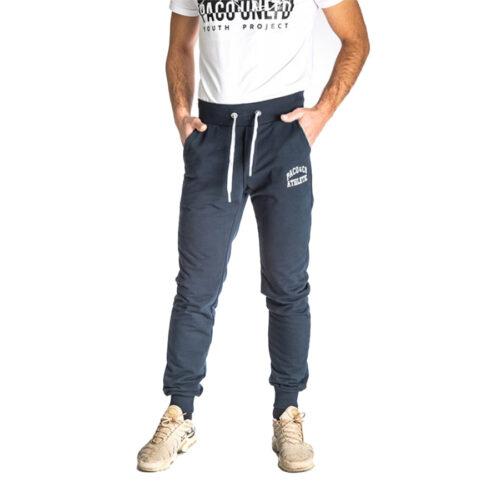 Aνδρικό Παντελόνι Φόρμας PACO & CO Χρώμα Μπλε Men's Jogger Pant 213674-blue