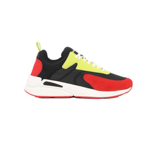 Diesel Ανδρικά Sneakers Xρώμα Μαύρο/Κόκκινο DIESEL SERENDIPITY S-SERENDIPITY LOW CUT SNEAKERS Y02547 P3810 H8404-black/red