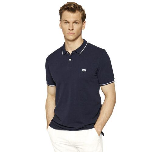 Ανδρική Μπλούζα Polo LEE Χρώμα Μπλε Lee Men's Polo T-Shirt L61ARL35-navy