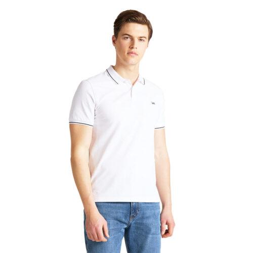 Ανδρική Μπλούζα Polo LEE Χρώμα Λευκό LeeMen's Polo T-Shirt L61ARLLJ-white
