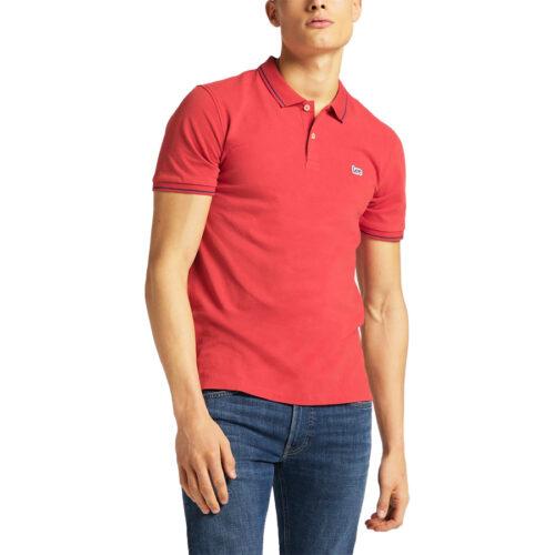 Ανδρική Μπλούζα Polo LEE Χρώμα Κόκκινο Lee Men's Polo T-Shirt L61ARLQM-washed red