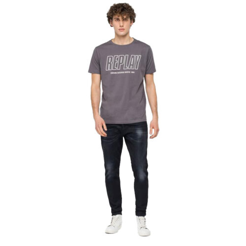 Ανδρικό T-shirt Replay Μακό Xρώμα Γκρι M3395 .000.2660-496 concrete grey