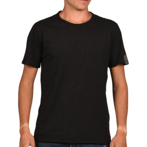 Ανδρικό T-shirt Replay Μακό Xρώμα Μαύρο M3590.000.2660-098 black