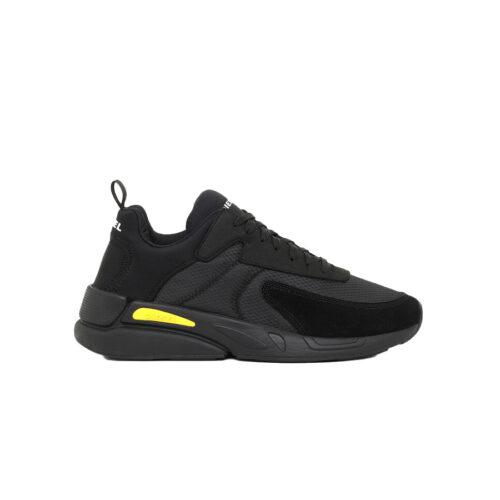 Diesel Ανδρικά Sneakers Xρώμα Μαύρο DIESEL SERENDIPITY S-SERENDIPITY LOW CUT SNEAKERS Y02547 P3810 H8402-black