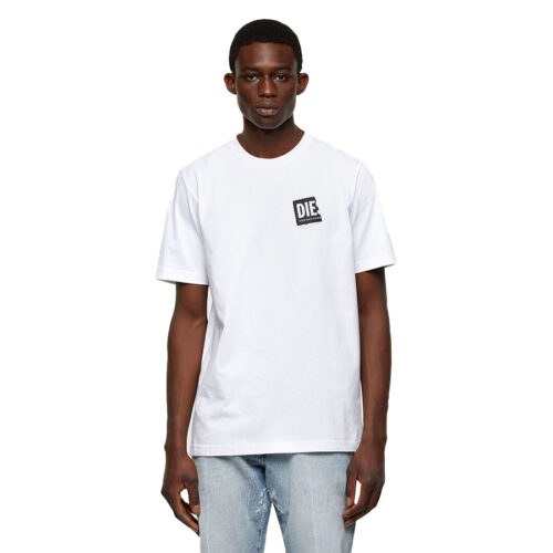 ΑΝΔΡΙΚΟ T-SHIRT DIESEL Χρώμα Λευκό Diesel T-JUST-LAB T-SHIRT A02369 0HAYU 100-white