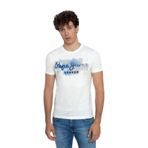ΑΝΔΡΙΚΟ T-SHIRT E2 GOLDERS PEPE JEANS PM503213-803 off white